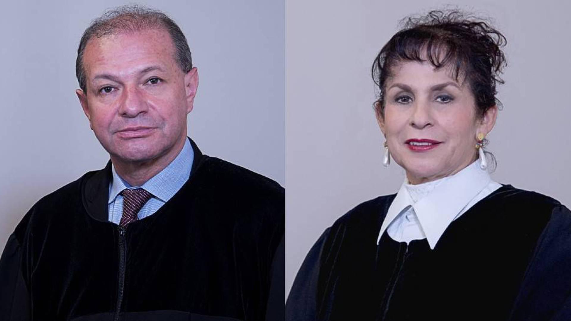 Magistrados Pedro Sanabria y Julia Emma Garzón.