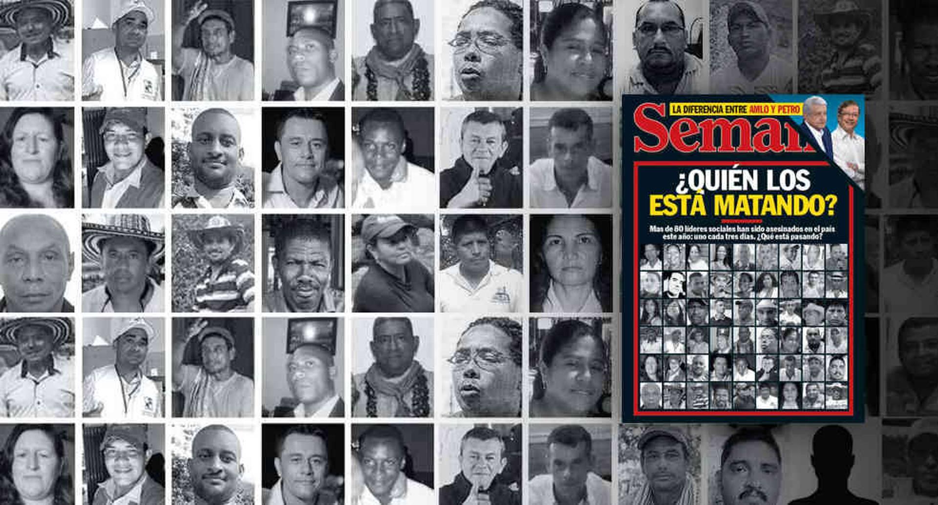 Tan solo en 1988, hubo 278 asesinatos de esa agrupación política y para el inicio del milenio la cifra era la misma. Según datos de la organización Somos Defensores, en 2015 hubo 63 homicidios de líderes; en 2016, 80; en 2017, 106; y este año van 79.