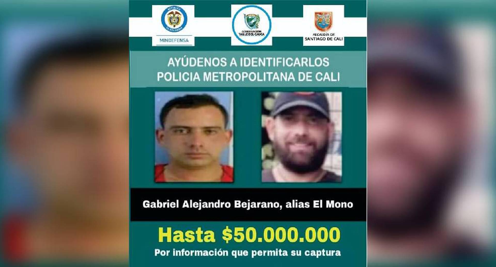 Cartel de implicado en la masacre de Llano Verde