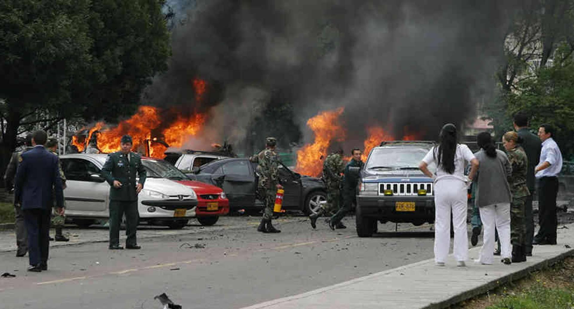 El atentado en la Escuela Superior de Guerra, el 19 de octubre de 2006 en la calle 102 número 7-80, en Bogotá