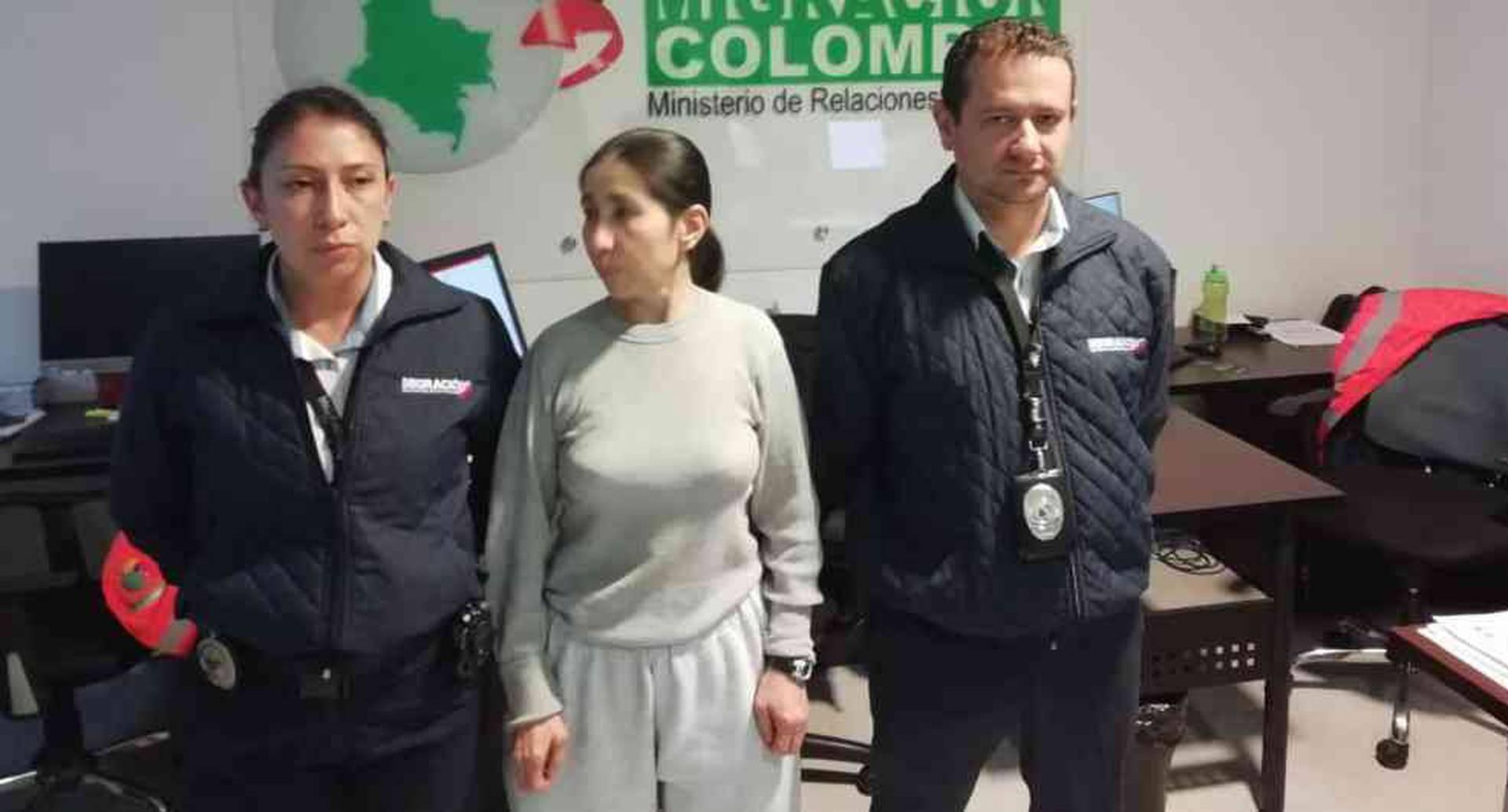 Alias Sonia aterriza en Colombia tras cumplir condena por narcotráfico