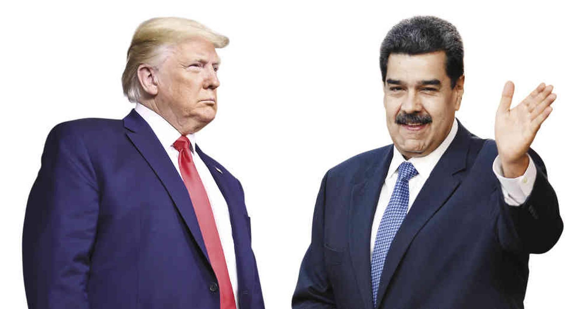 Donald Trump, presidente de Estados Unidos y Nicolás Maduro, presidente de Venezuela.