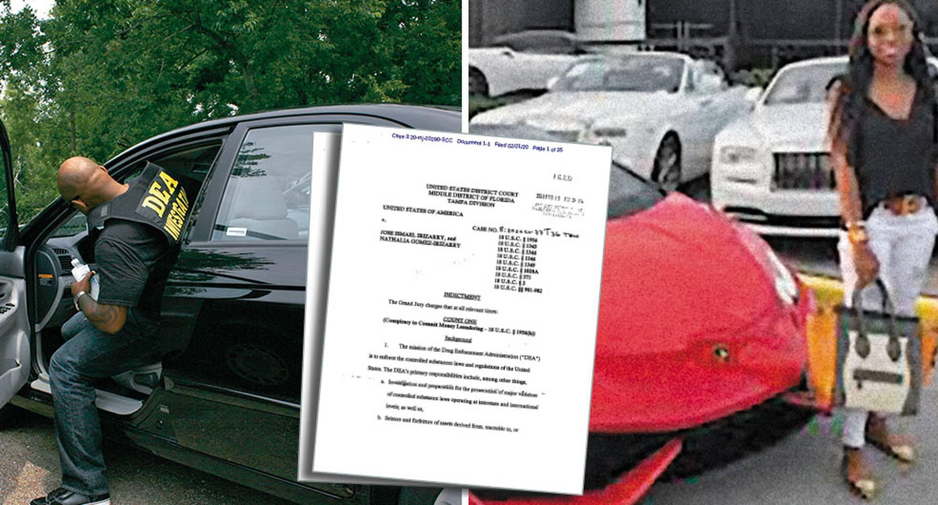 La acusación contra José Irizarry, agente de la DEA, menciona la compra de carros lujosos con dinero desviado ilegalmente. Uno de esos sería el Lamborghini incautado a los Ambuila.