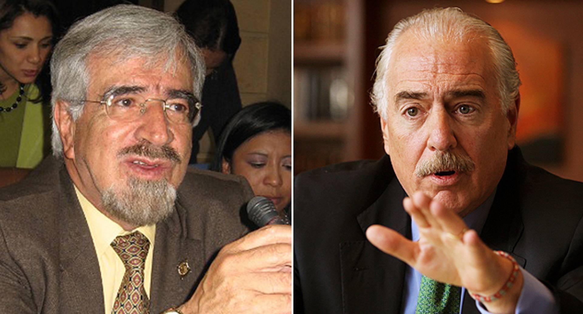 Germán Navas Talero y Andrés Pastrana.