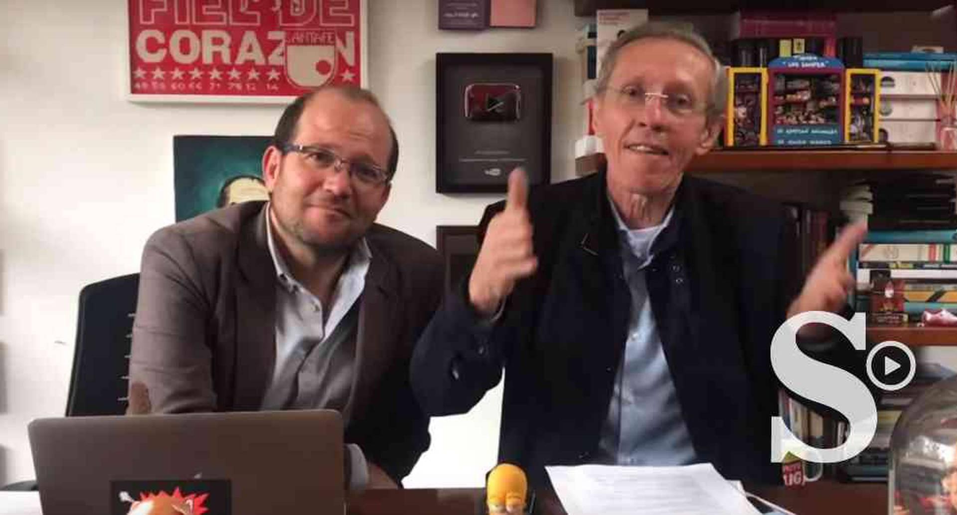 Daniel Samper invitó a Antonio Navarro a su canal para conversar de su carrera por llegar al Palacio Liévano.