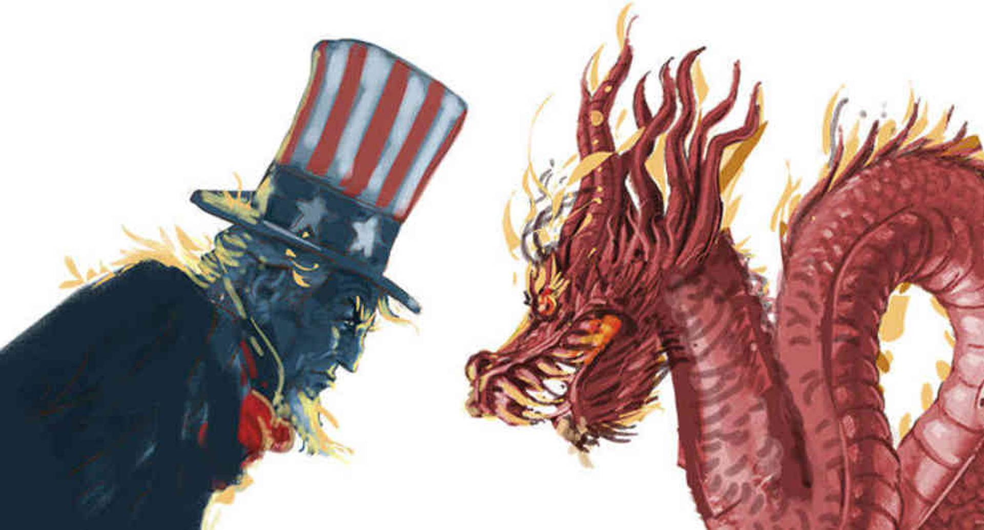 China y Estados Unidos desalojan consulados y agudizan guerra comercial política. Ilustración: Jorge Restrepo