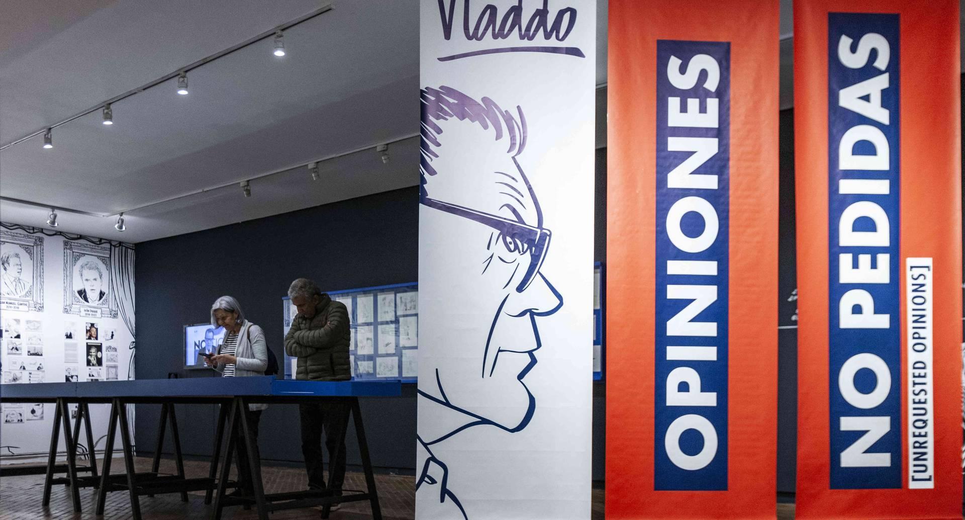 Con 'Opiniones no pedidas', Vladdo celebra 25 años de trabajo para SEMANA y 20 del nacimiento de Aleida, su icónica caricatura femenina. FOTO: Mauricio Flórez