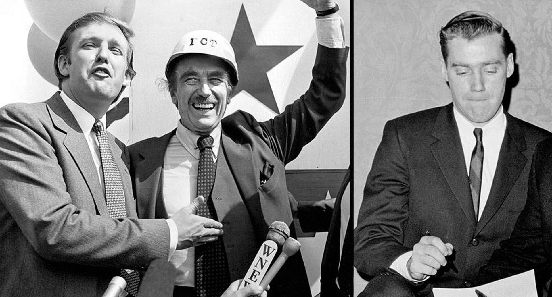 Donald Trump con su padre Fred, quien crio a sus hijos en un ambiente competitivo e intimidante. Esto resultó fatal para Fred Jr., el hermano mayor, quien se volvió alcohólico y murió a los 43 años.