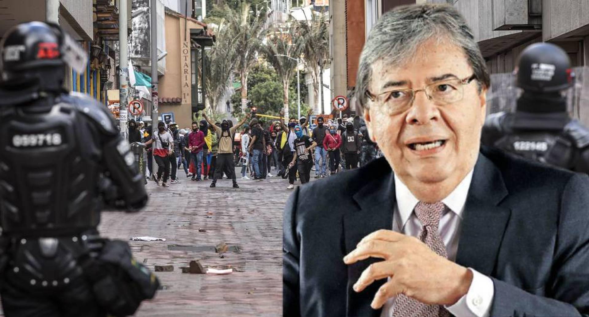 Carlos Holmes Trujillo habla sobre las protestas y enfrentamientos entre la Policía y civiles.