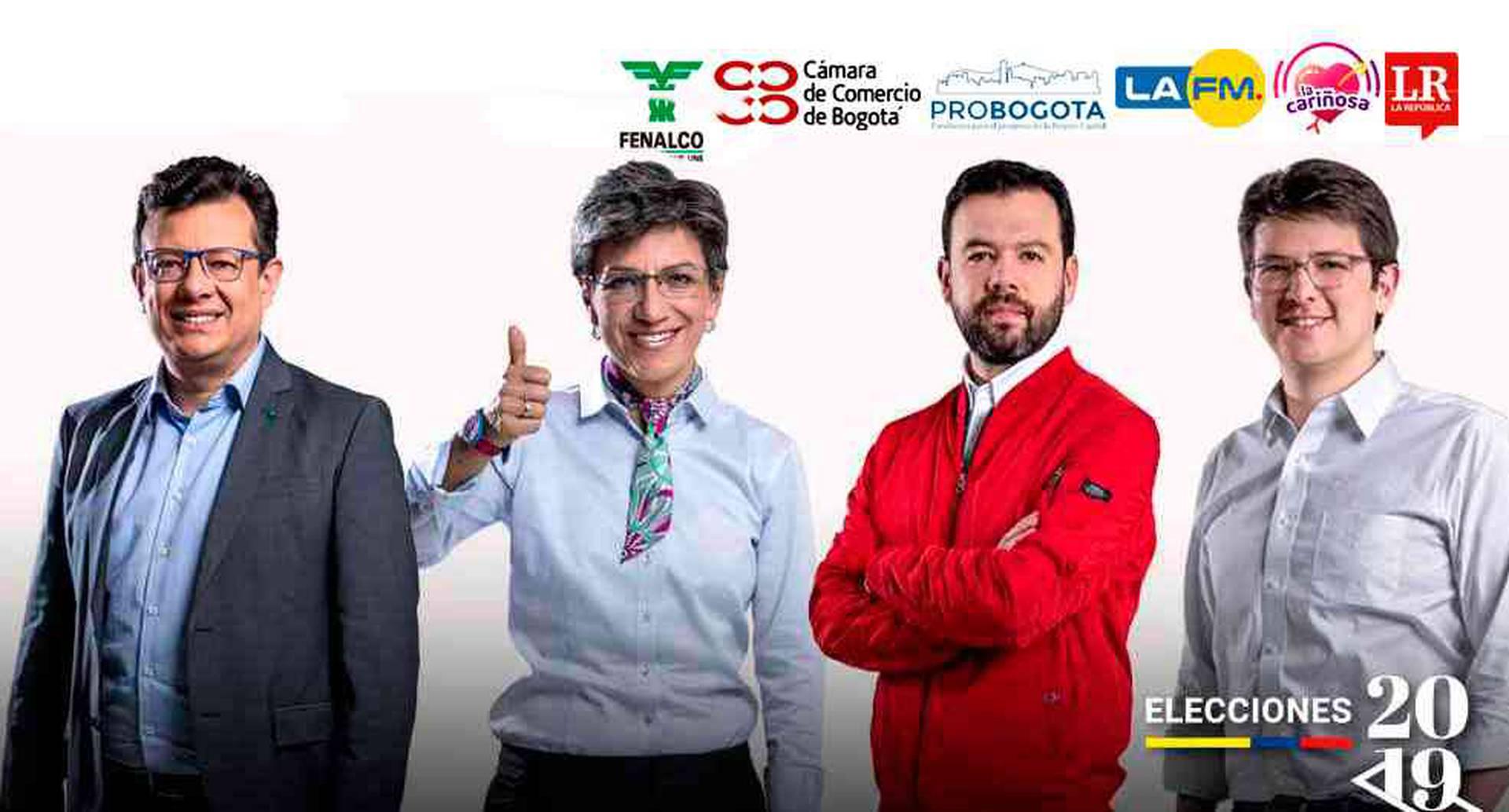 En este debate los cuatro candidatos demostraron su conocimiento sobre los problemas y necesidades específicas de las localidades de la capital.