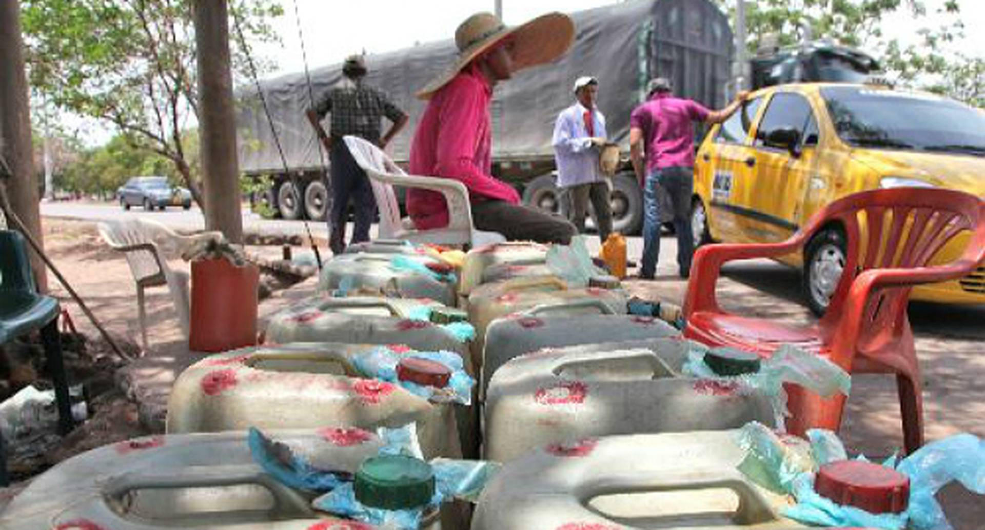Contrabando de gasolina. Imagen de referencia.