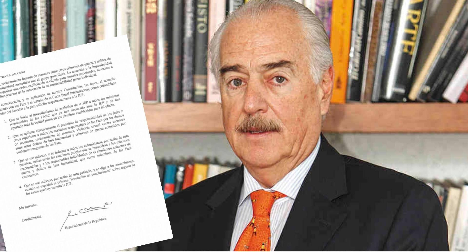 Carta de Andrés Pastrana a  la JEP
