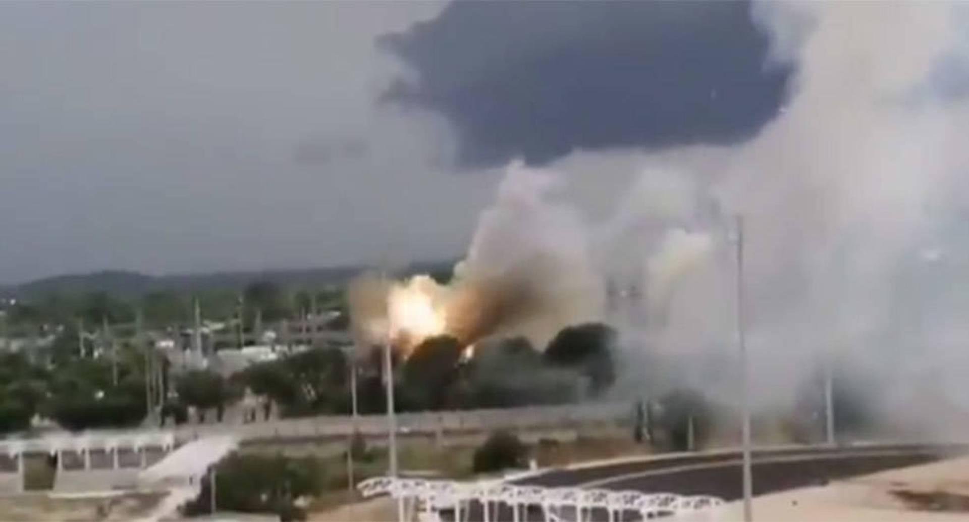 Captura de imagen de un video en el que se aprecia la dimensión del incendió generado.