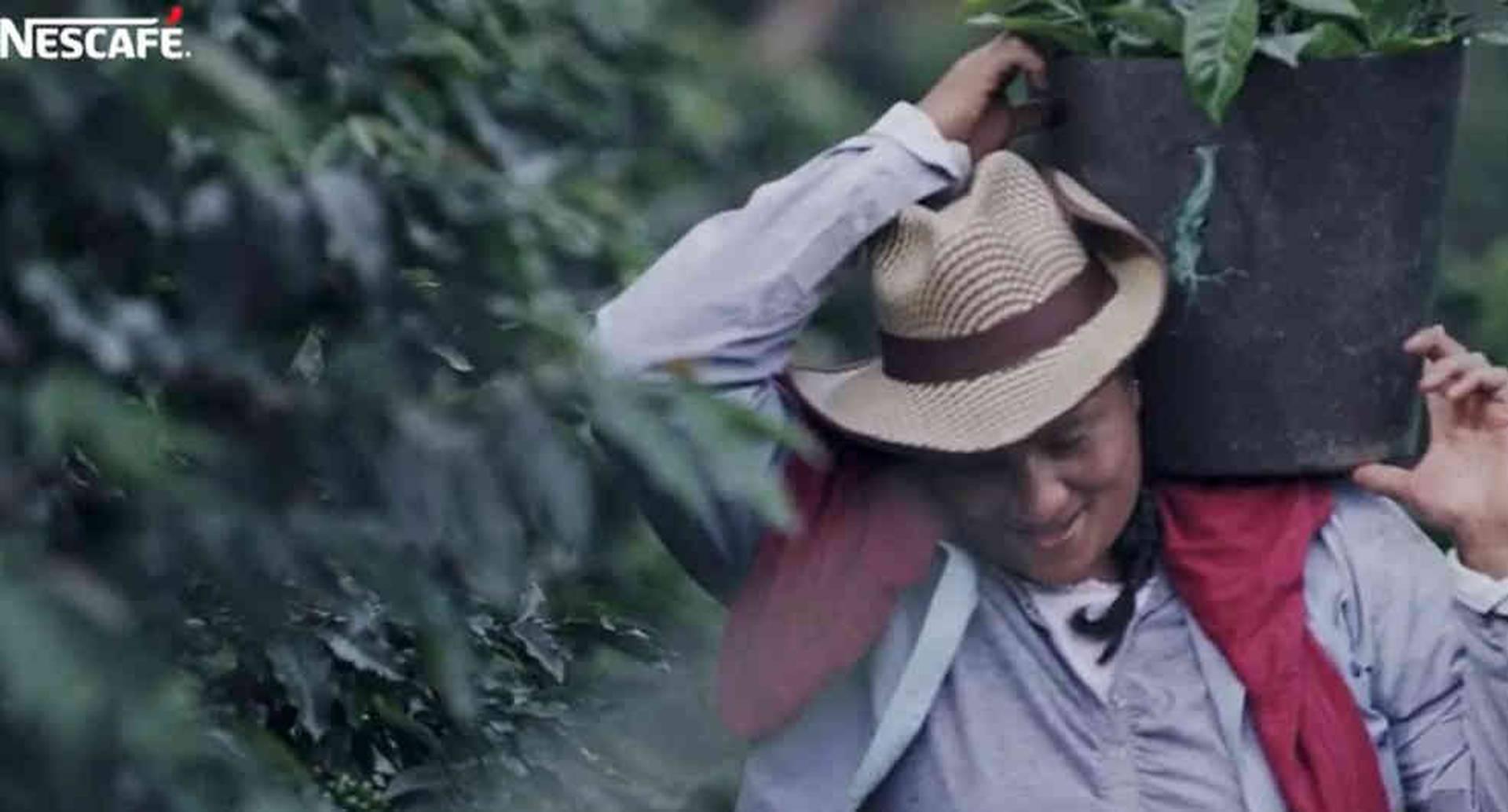 Caficultora colombiana