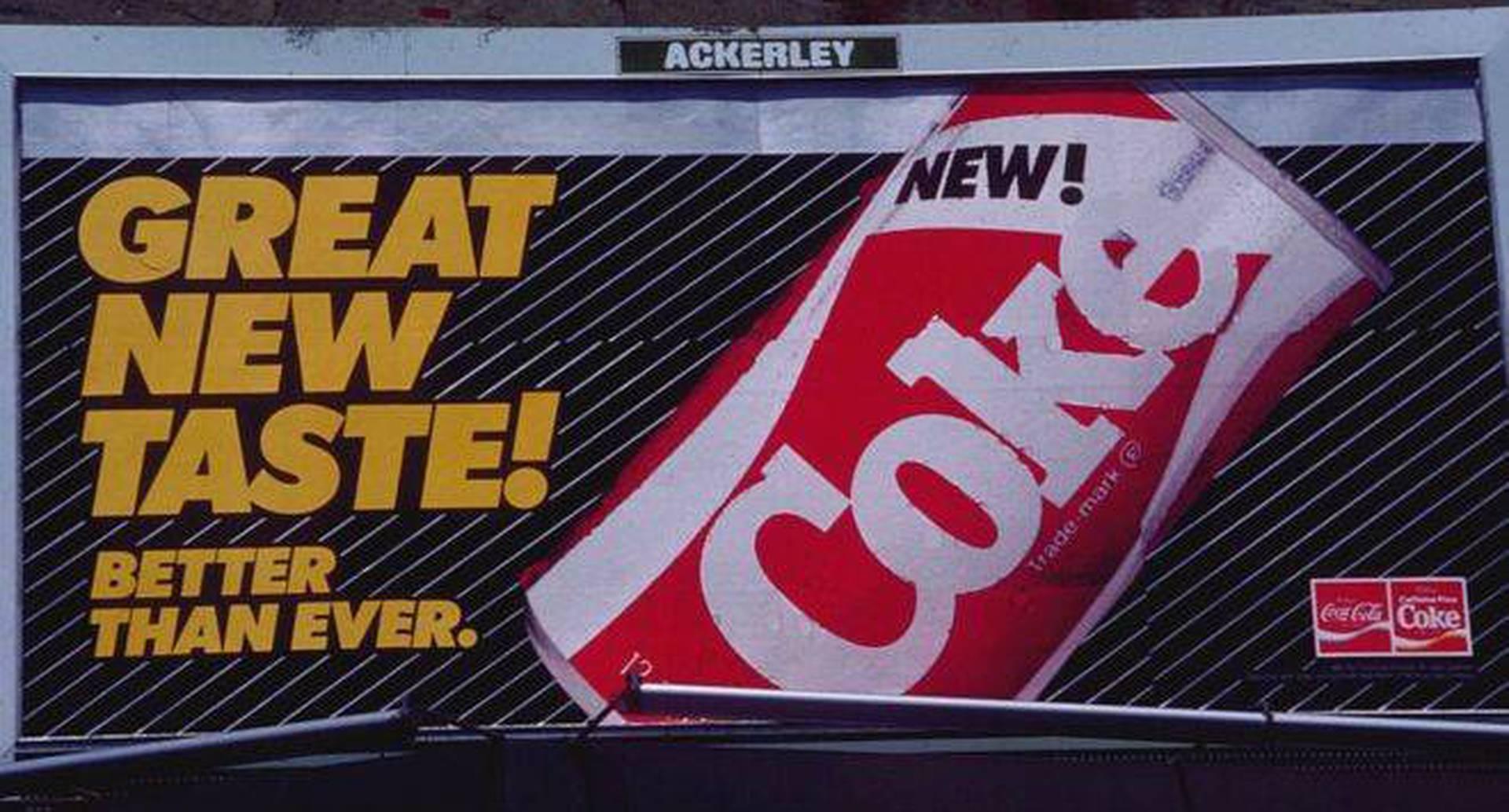 New Coke fue un fracaso comercial en 1985.