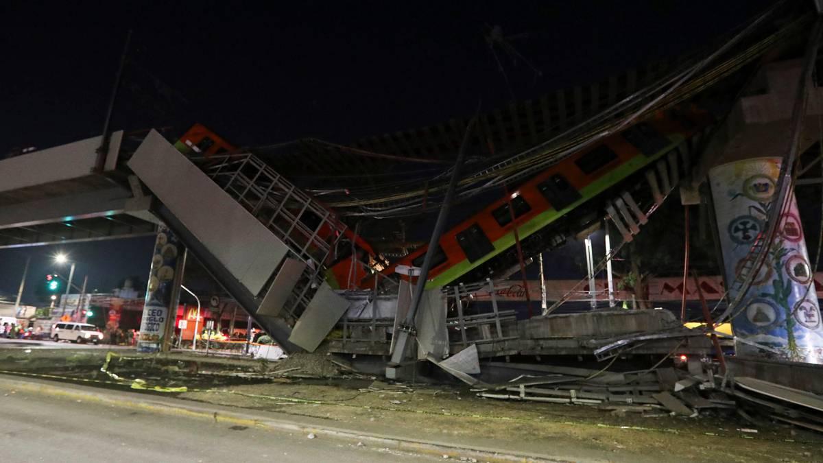 Aumenta cifra de muertos tras colapso del Metro en Ciudad de México