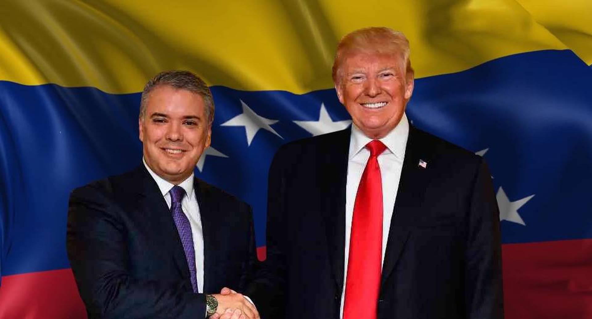 Donald Trump ratificó su alianza con Colombia y su lucha contra el régimen de Nicolás Maduro en Venezuela.
