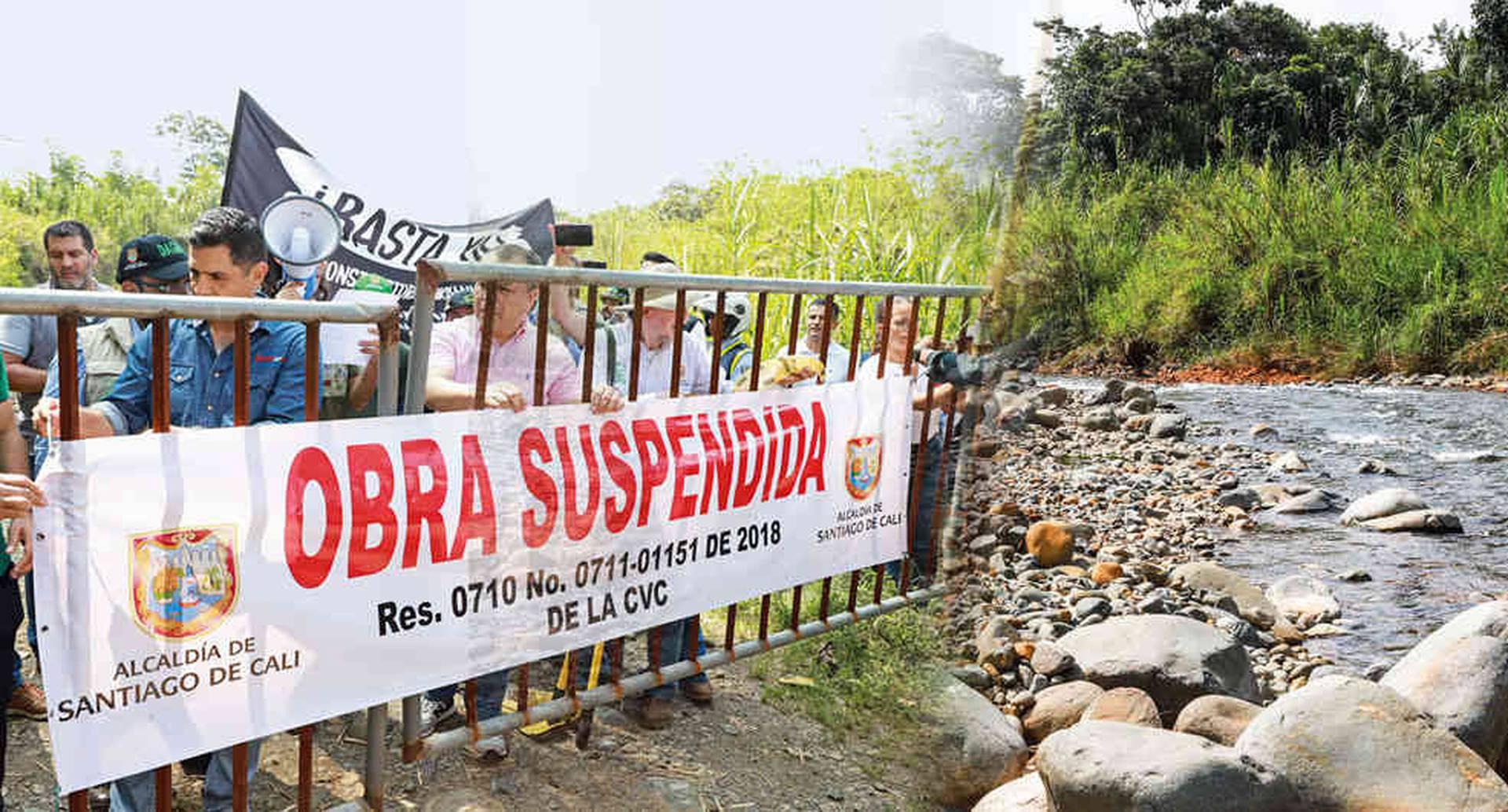 El alcalde Ospina, que ha visitado la zona, no solo busca evitar nuevas construcciones en Pance, sino también la extracción de roca y material de construcción.