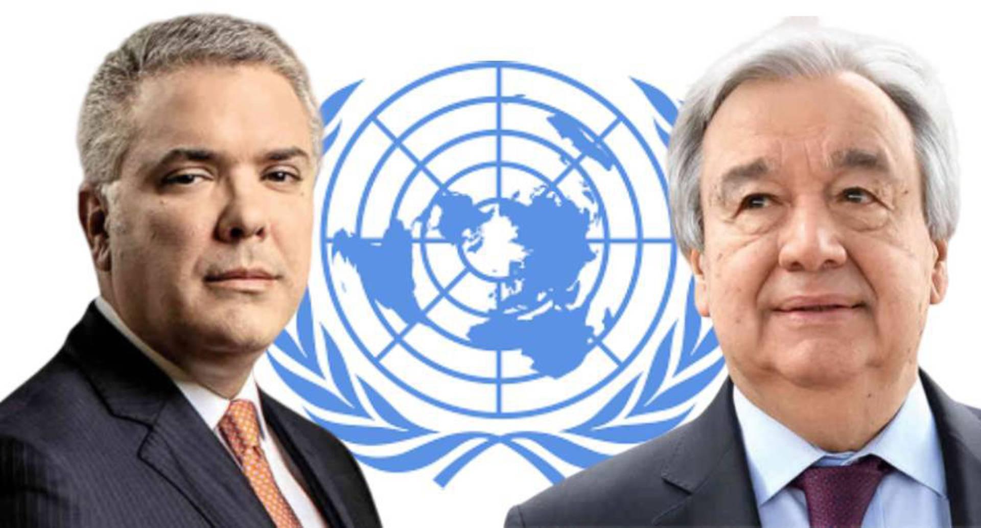 Iván Duque y Antonio Guterres