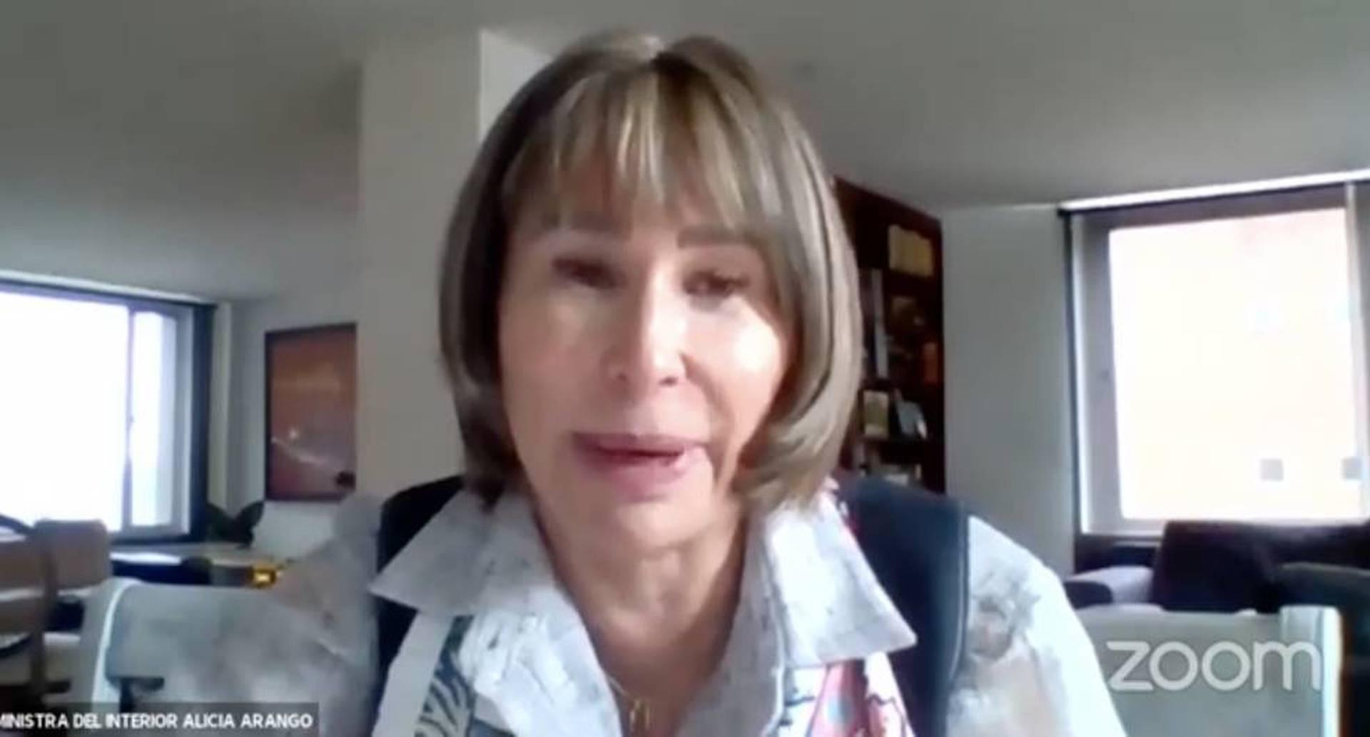 Alicia Arango y su llano en debate en el Congreso, por renuncia de Uribe