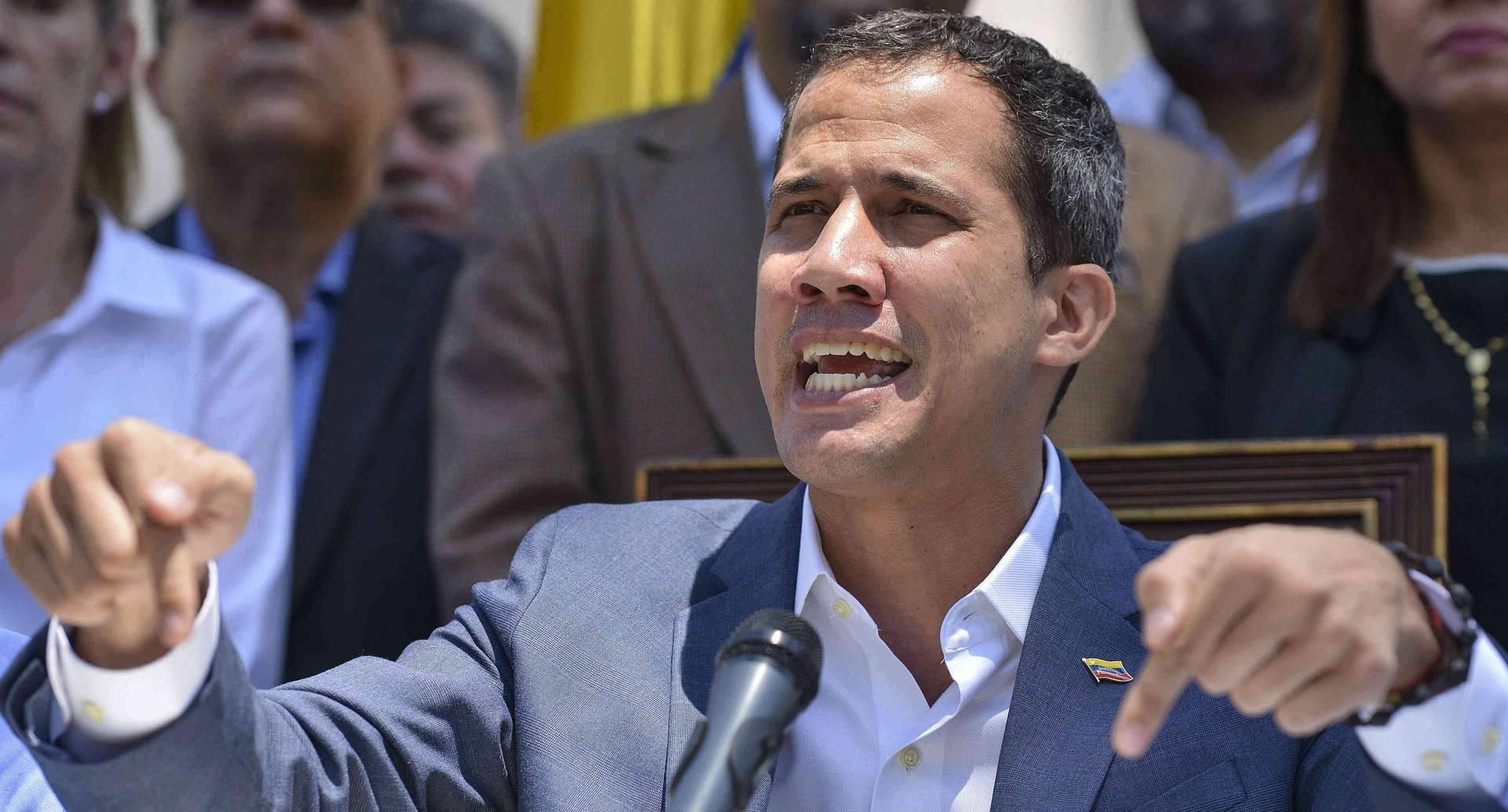 El líder opositor de Venezuela, Juan Guaidó, podría ser arrestado.