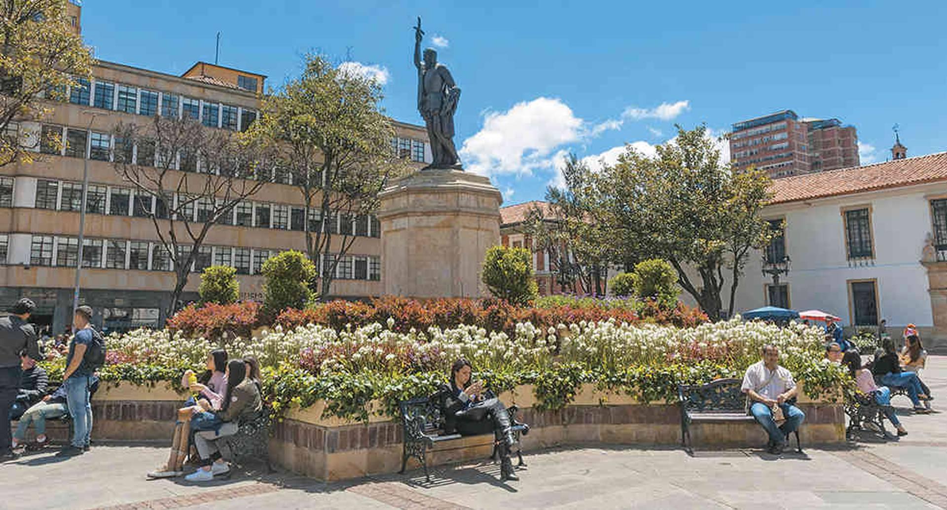 Monumento Gonzalo Jiménez de Quesada, ubicado en la localidad de La Candelaria.